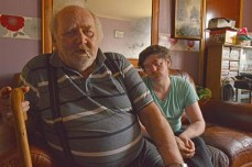 Express and Echo. A pensioner suffering with Angina, and his half blind son, are unable to leave their house after falling over the front step.