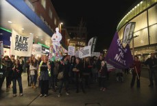 Reclaim the Night march, November 2015, Exeter. Express and Echo.