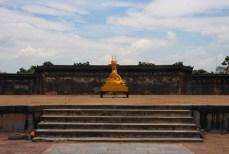 A golden dragon sits proudly in the citadel in Hue, Vietnam, the scene of intense fighting during the Vietnam war