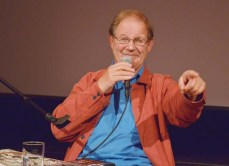 Express and Echo. Author Michael Morpurgo laughs with the audience during a reading at Honiton Beehive.
