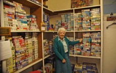 Express and Echo. Ruth Everly in Exeter's jigsaw library.