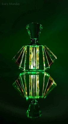 Art Deco bottles photographed in studio for the AOP Awards. Copyright Lucy Munday