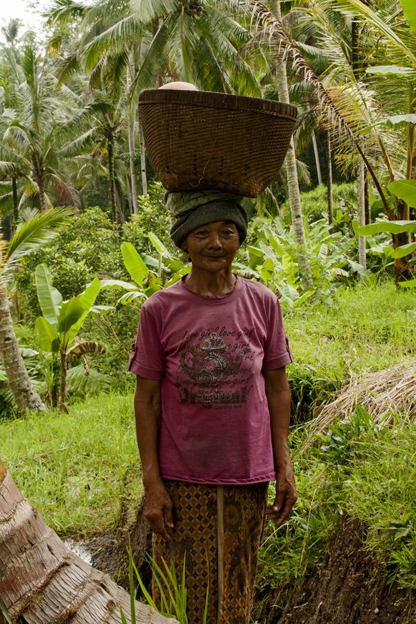 Lady at Ubud terraces